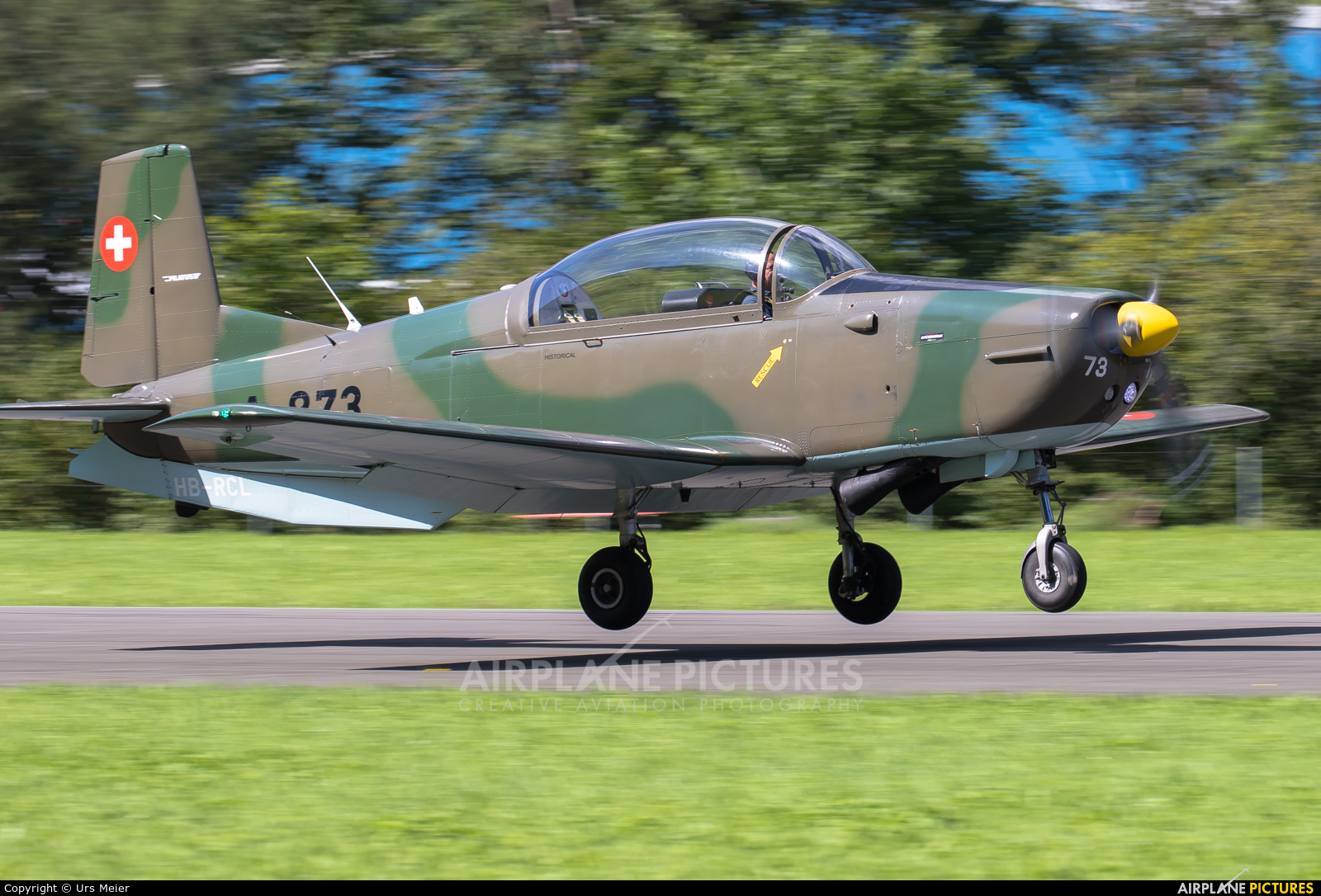 P3 Flyers Ticino HB-RCL aircraft at Mollis