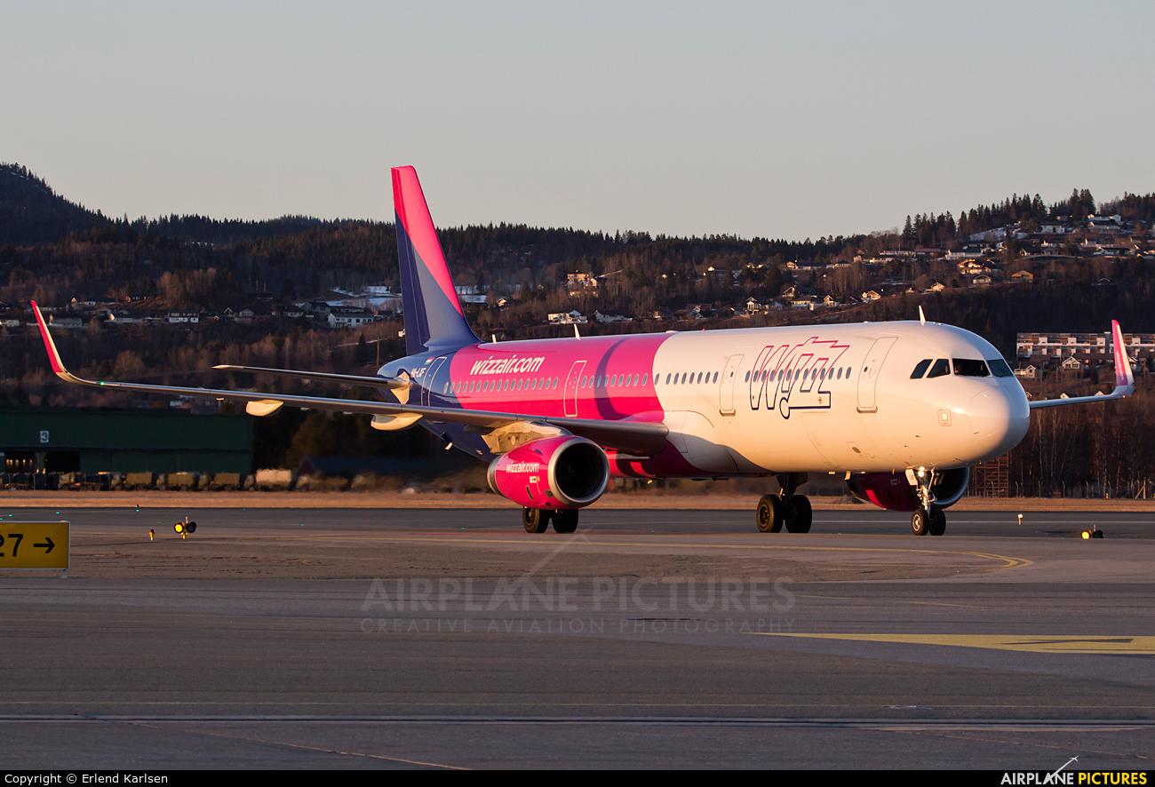Wizz Air HA-LXF aircraft at Trondheim - Vaernes