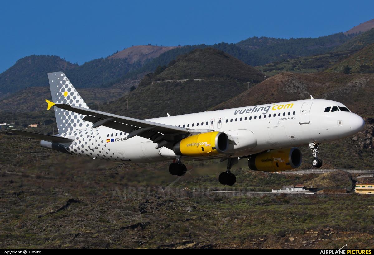 Vueling Airlines EC-LQN aircraft at Santa Cruz de La Palma