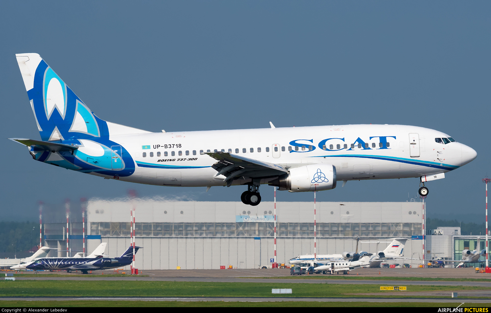SCAT Airlines UP-B3718 aircraft at Moscow - Vnukovo