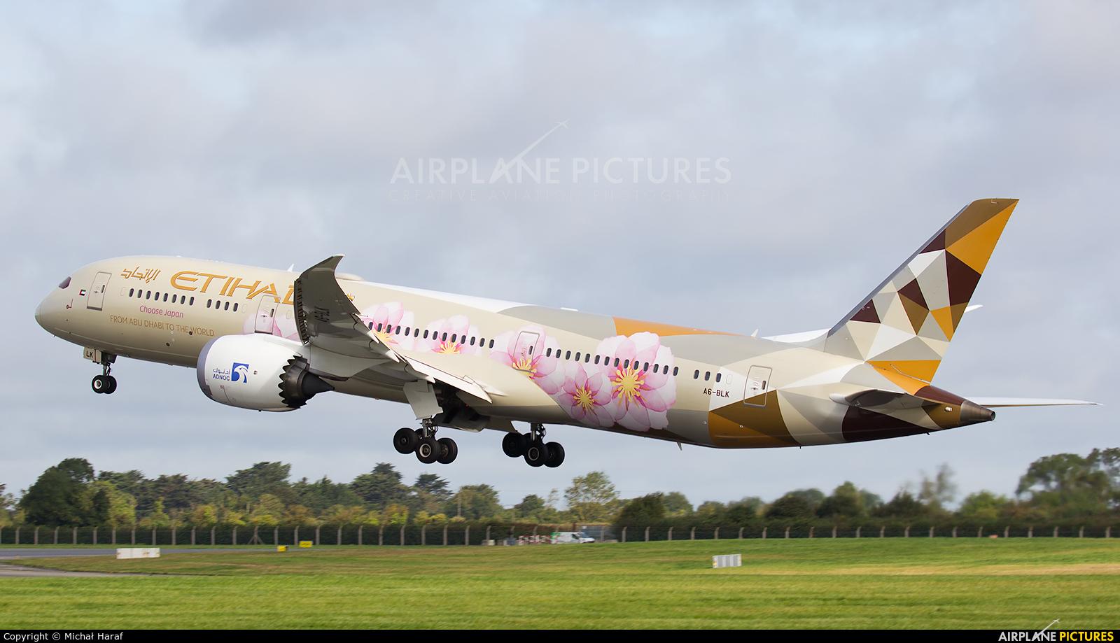 Etihad Airways A6-BLK aircraft at Dublin