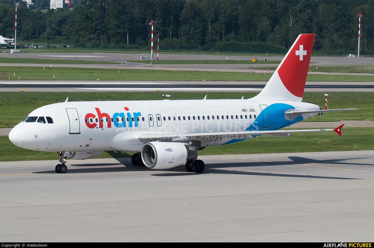 Chair Airlines HB-JOG aircraft at Zurich