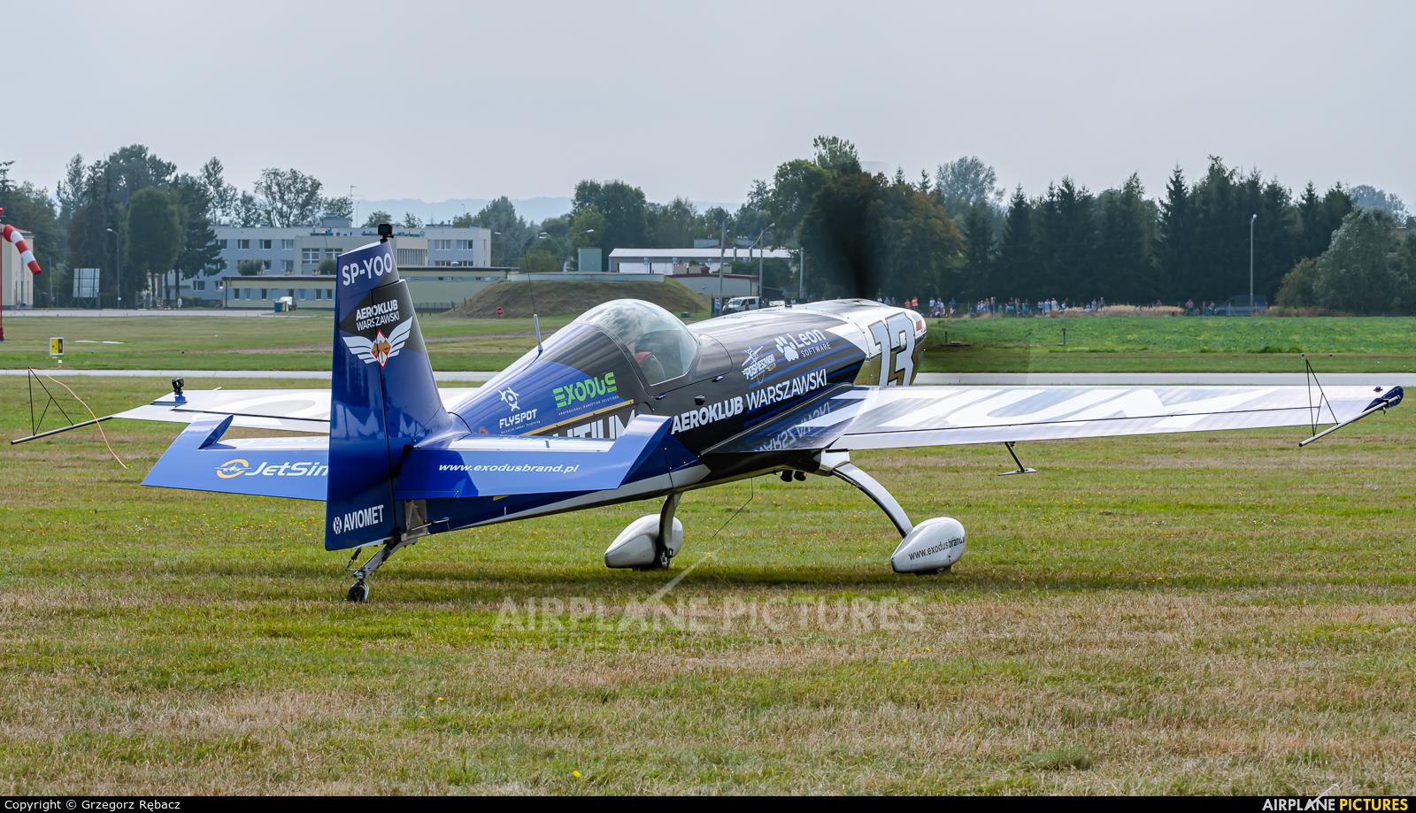 Maciej Pospieszyński - Aerobatics SP-YOO aircraft at Rzeszów-Jasionka