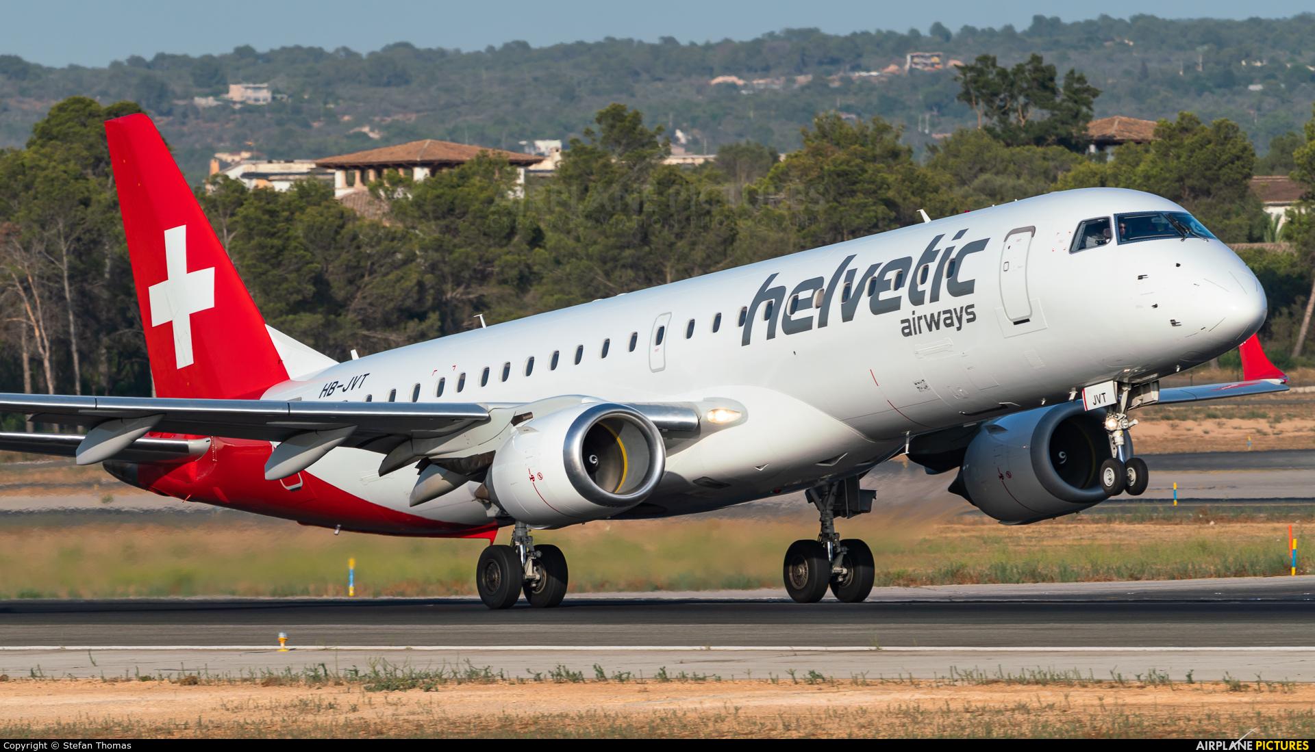 Helvetic Airways HB-JVT aircraft at Palma de Mallorca