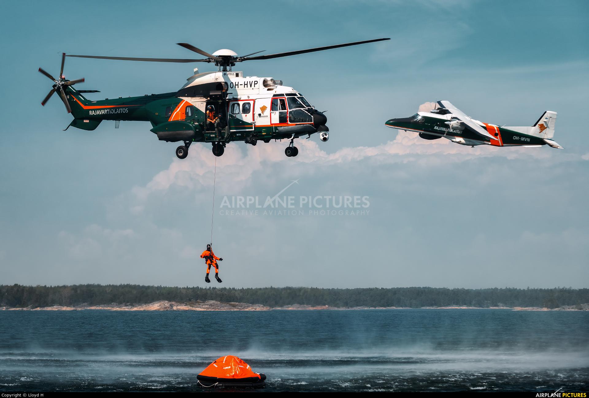 Finland - Border Guard OH-HVP aircraft at Off Airport - Finland