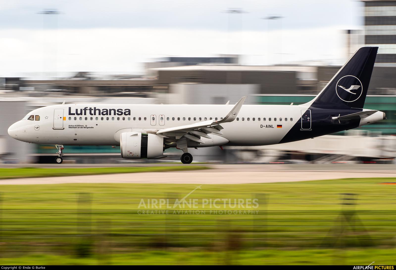 Lufthansa D-AINL aircraft at Manchester