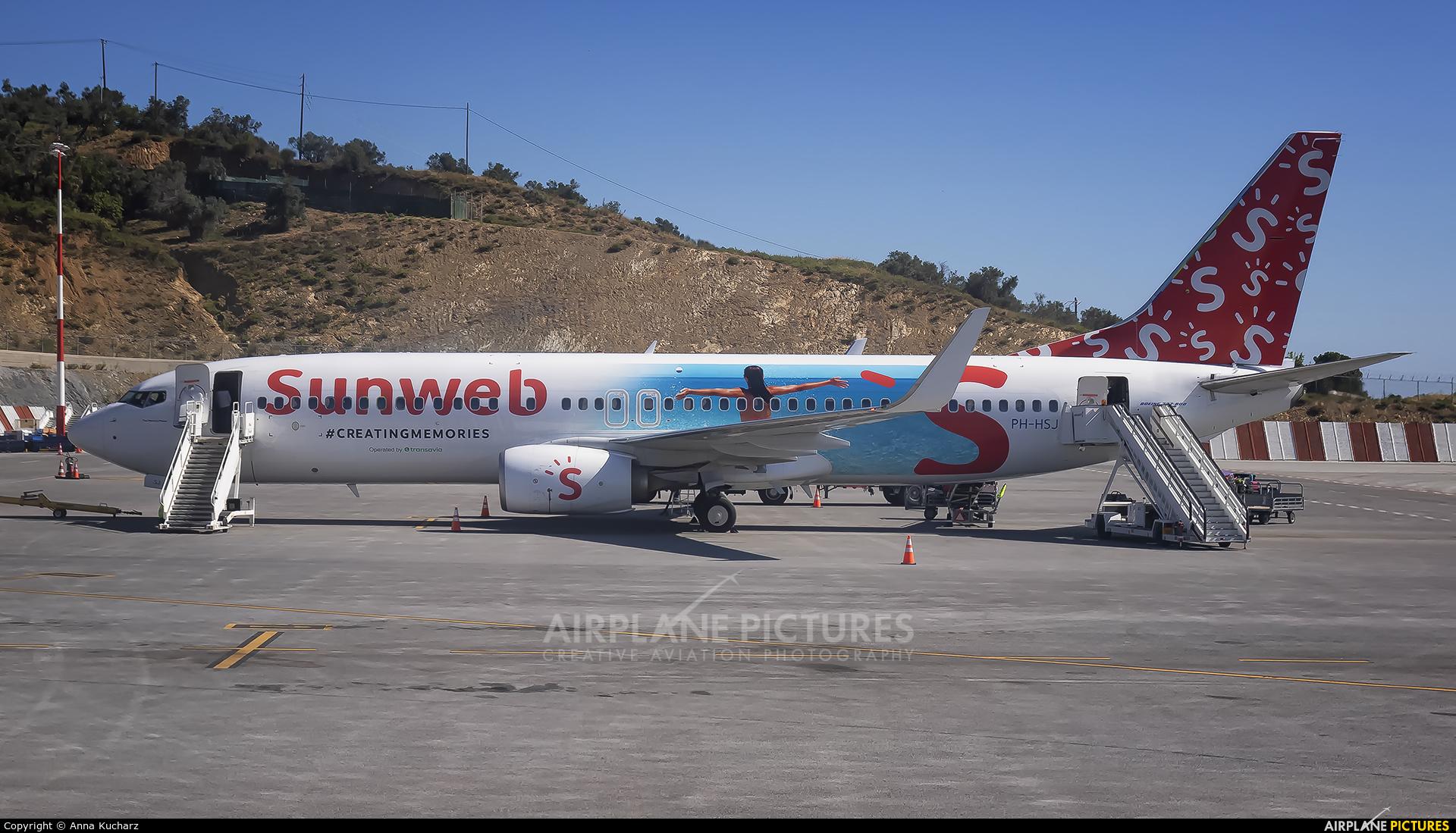 Transavia PH-HSJ aircraft at Skiathos