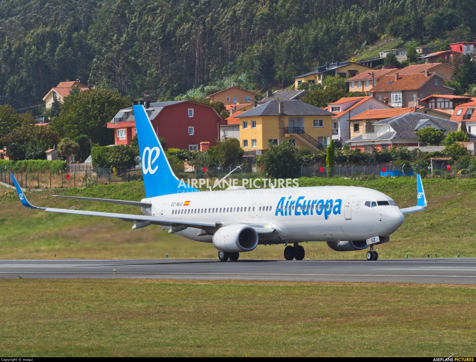 Air Europa EC-MUZ aircraft at La Coruña