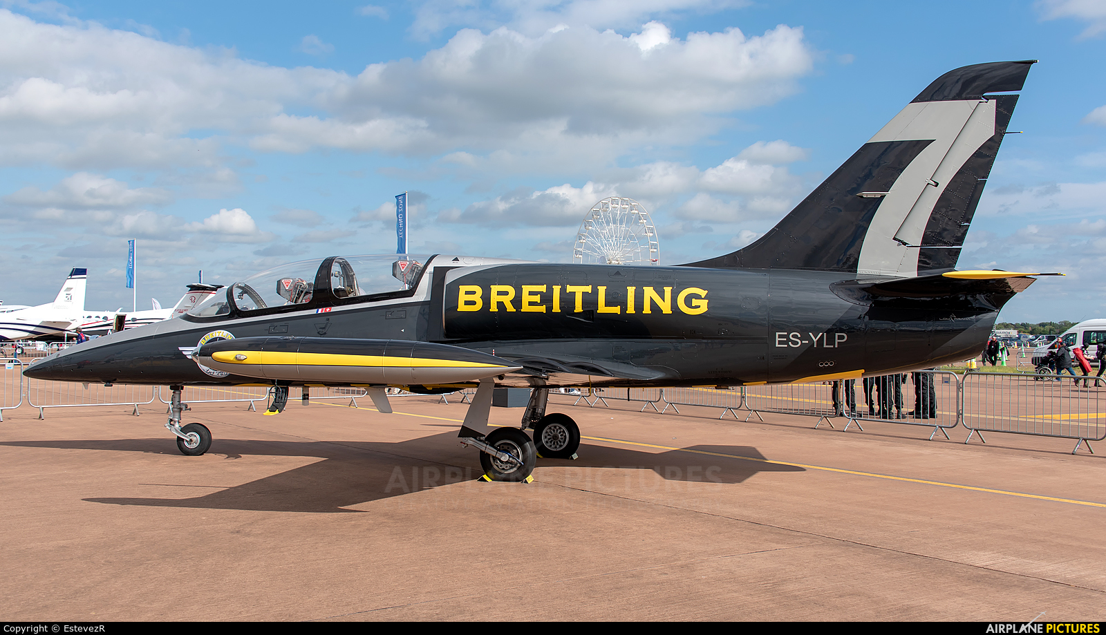 Breitling Jet Team ES-YLP aircraft at Fairford