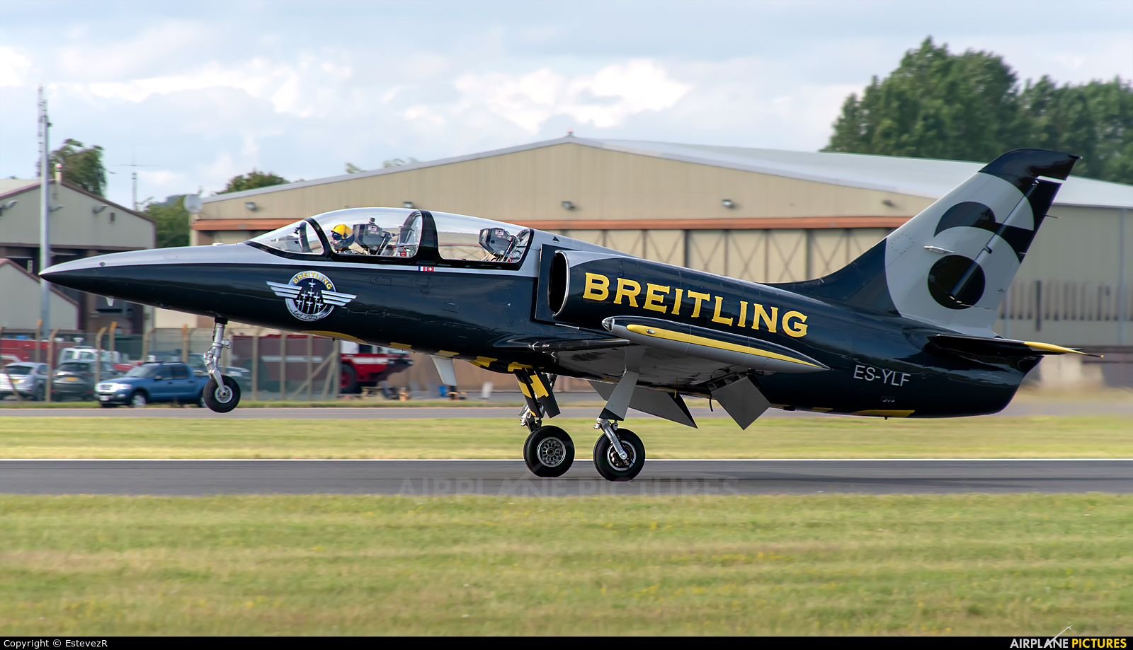 Breitling Jet Team ES-YLF aircraft at Fairford