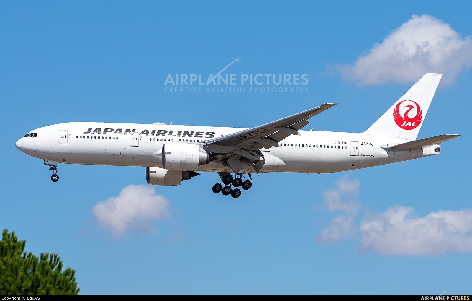 JAL - Japan Airlines JA711J aircraft at Madrid - Barajas