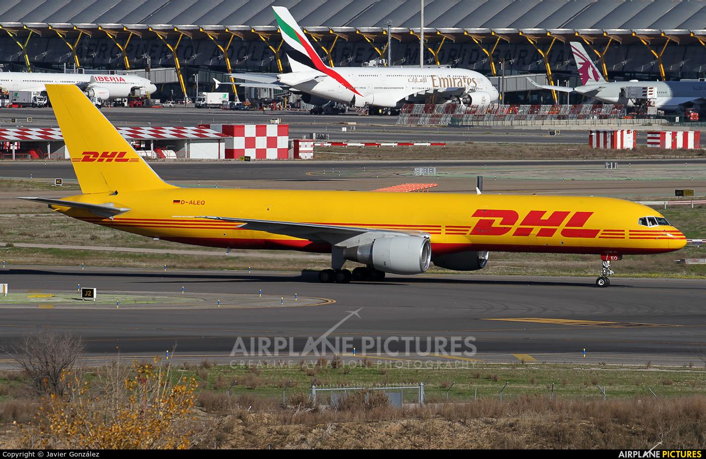 DHL Cargo D-ALEQ aircraft at Madrid - Barajas