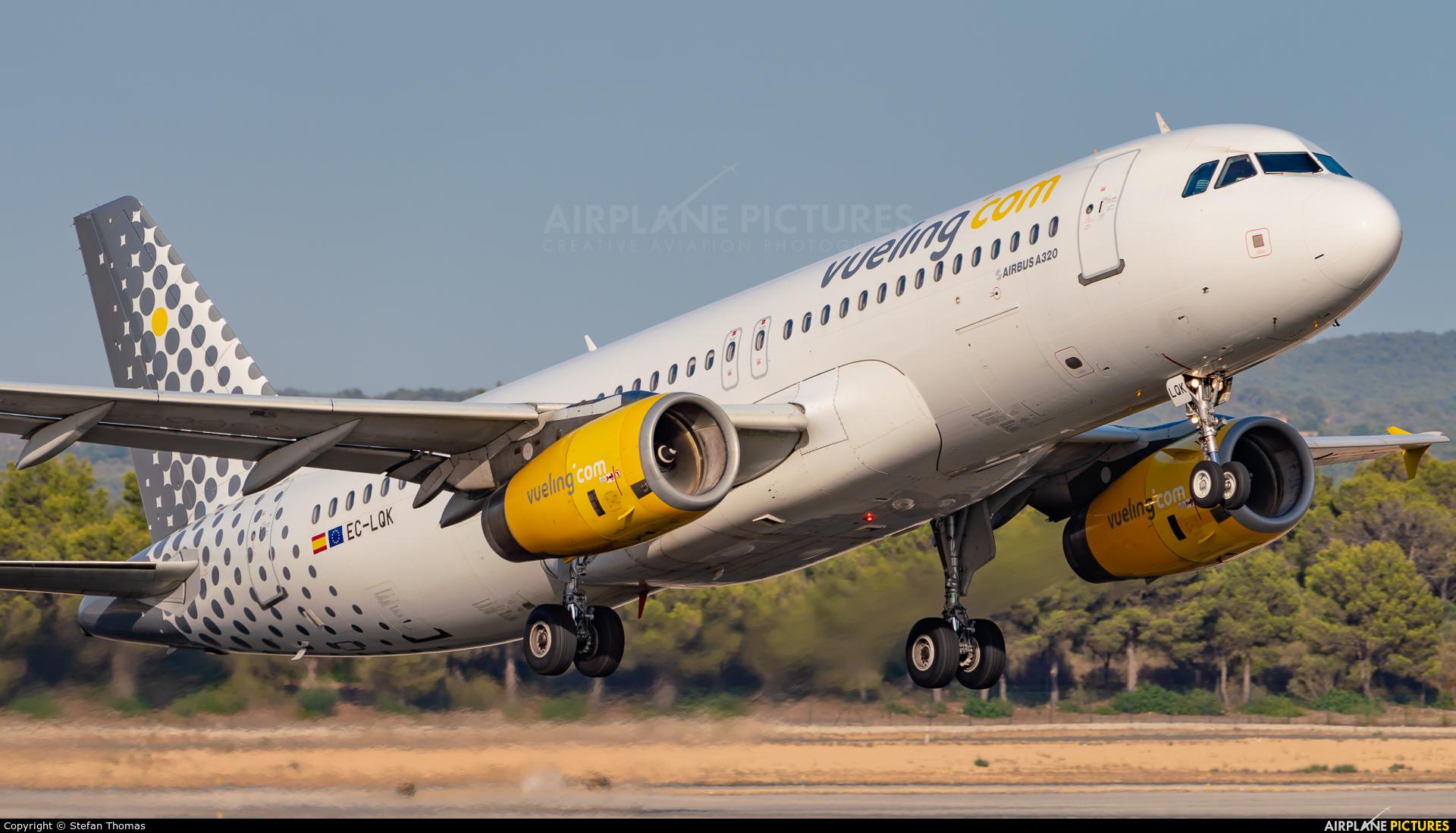 Vueling Airlines EC-LQK aircraft at Palma de Mallorca