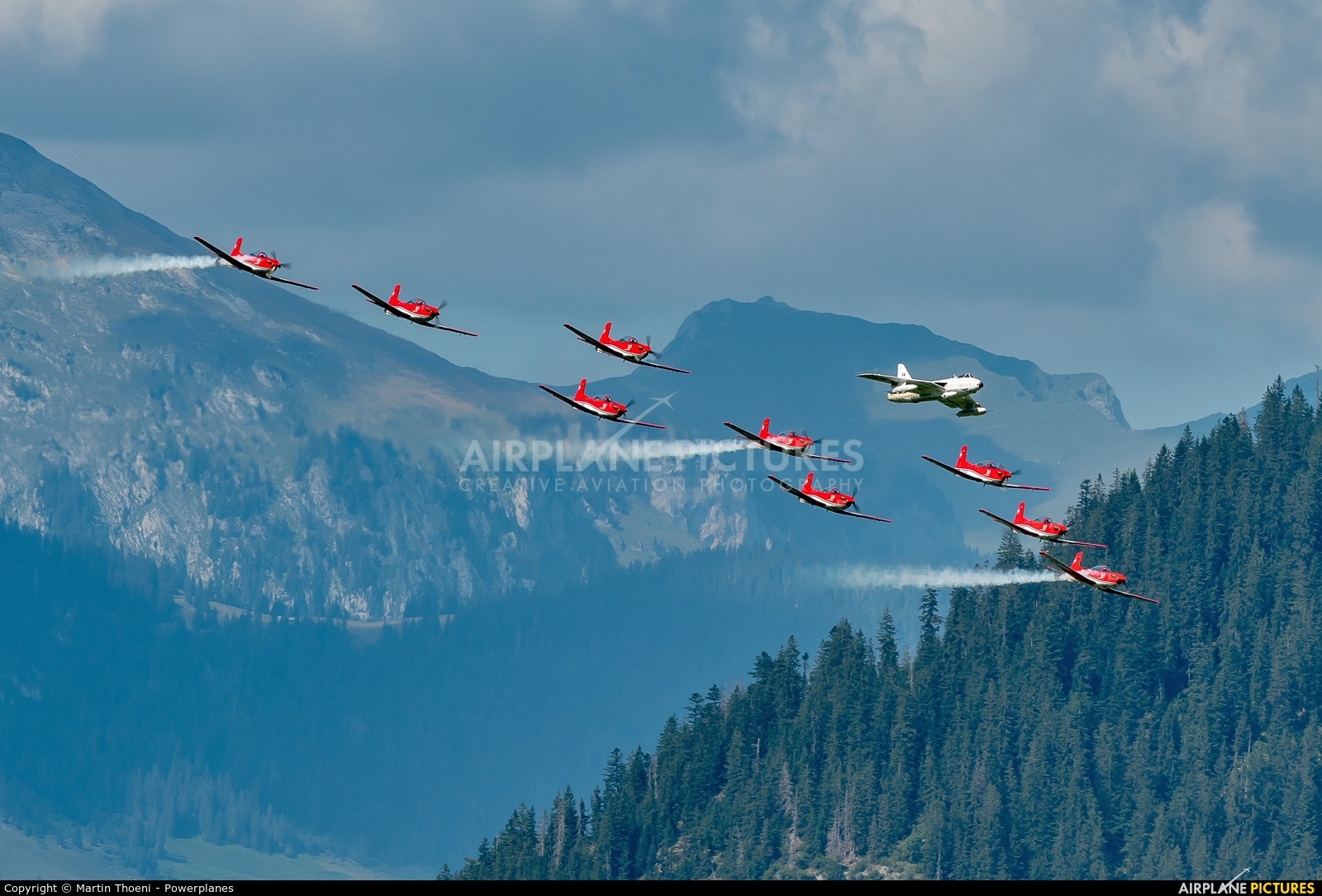 Switzerland - Air Force HB-RVS aircraft at St. Stephan