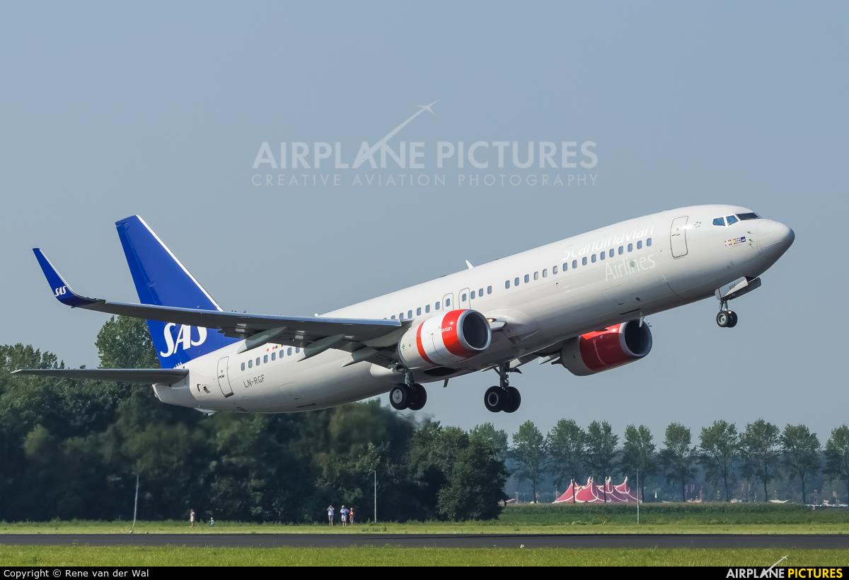 SAS - Scandinavian Airlines LN-RGF aircraft at Amsterdam - Schiphol