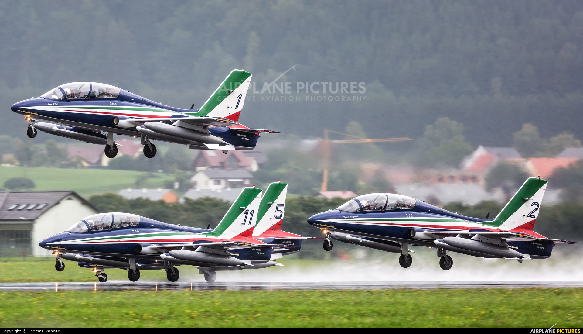 "Italy - Air Force ""Frecce Tricolori"" MB-3394 aircraft at Zeltweg"