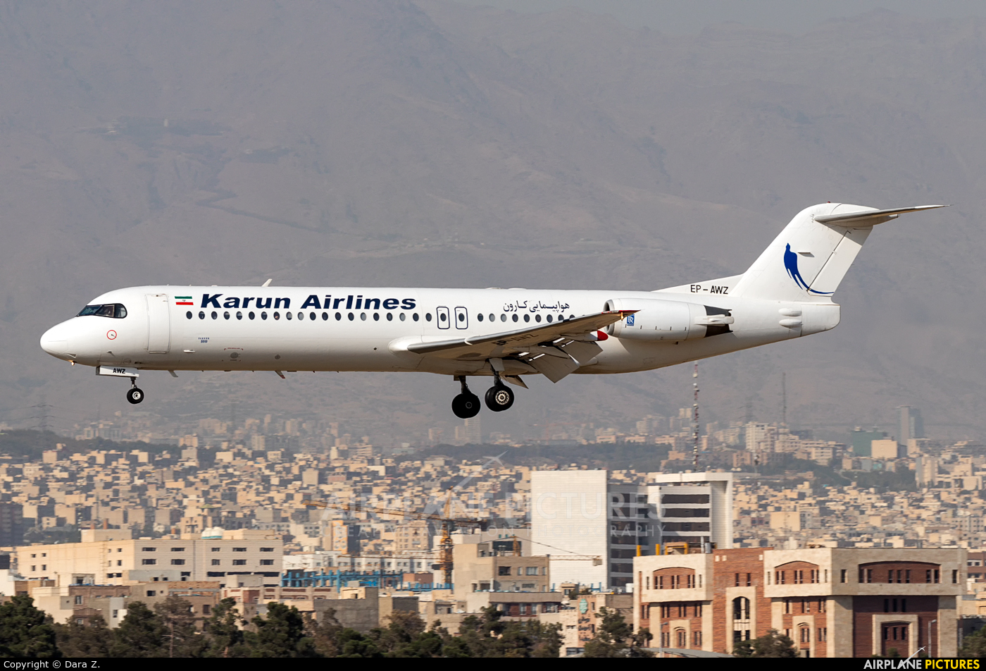 Naft Airlines EP-AWZ aircraft at Tehran - Mehrabad Intl