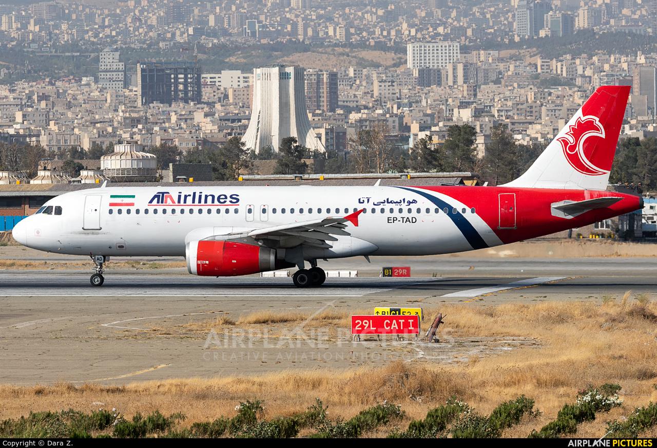 ATA Airlines Iran EP-TAD aircraft at Tehran - Mehrabad Intl