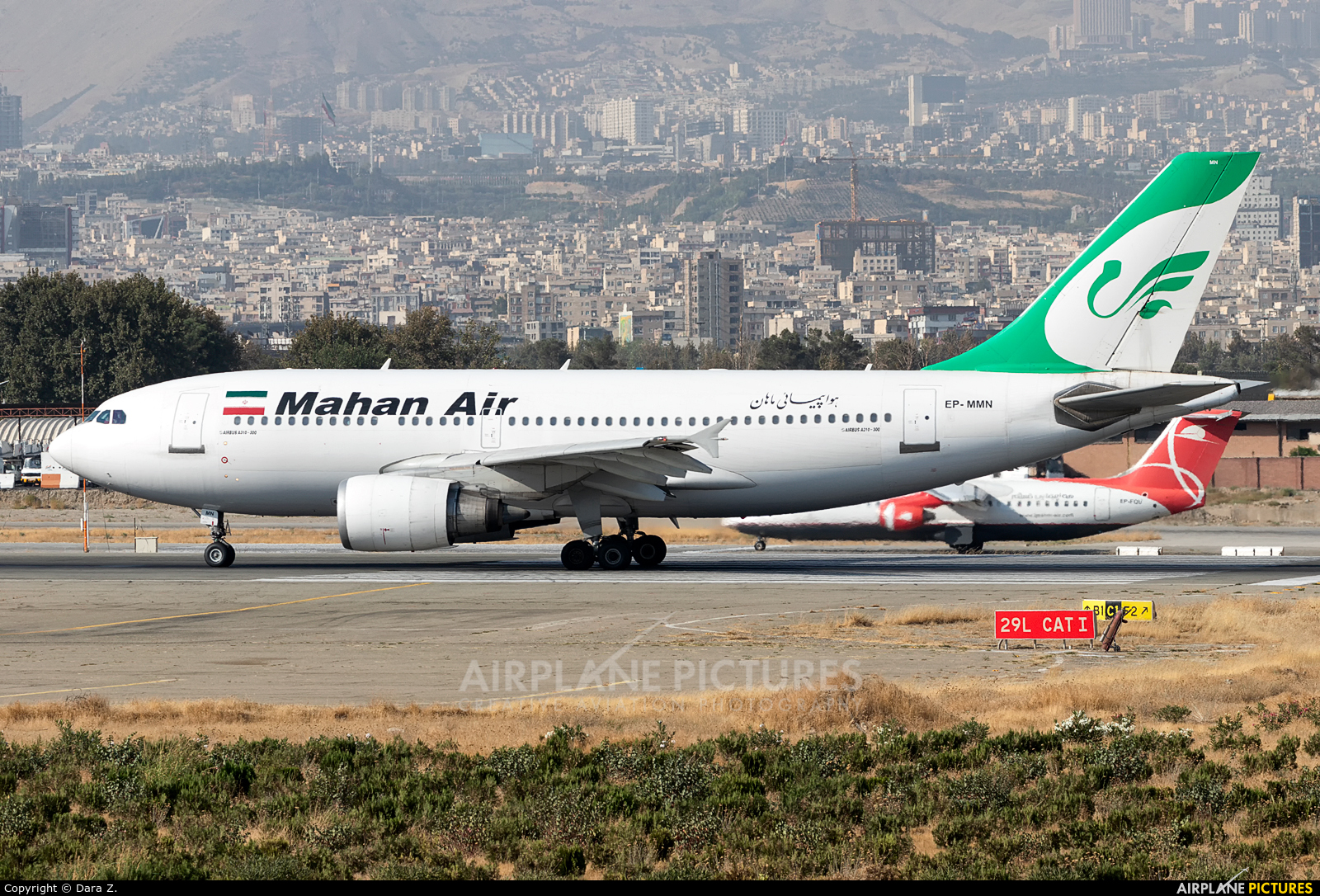 Mahan Air EP-MNN aircraft at Tehran - Mehrabad Intl