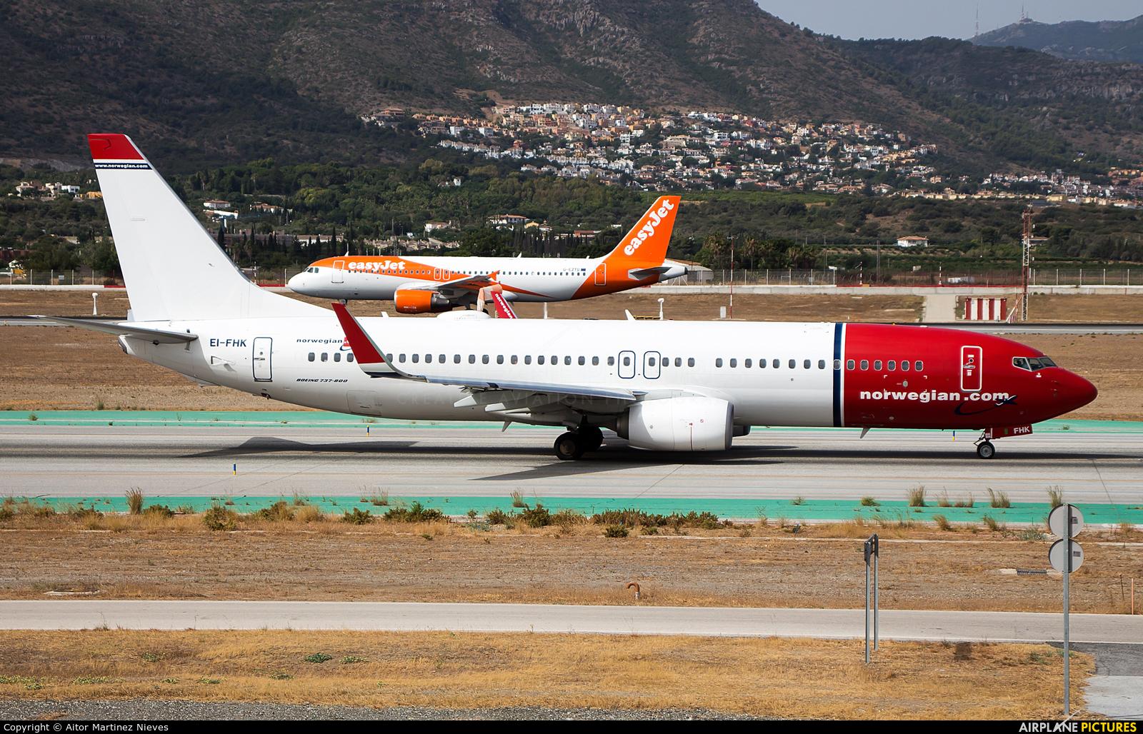 Norwegian Air International EI-FHK aircraft at Málaga