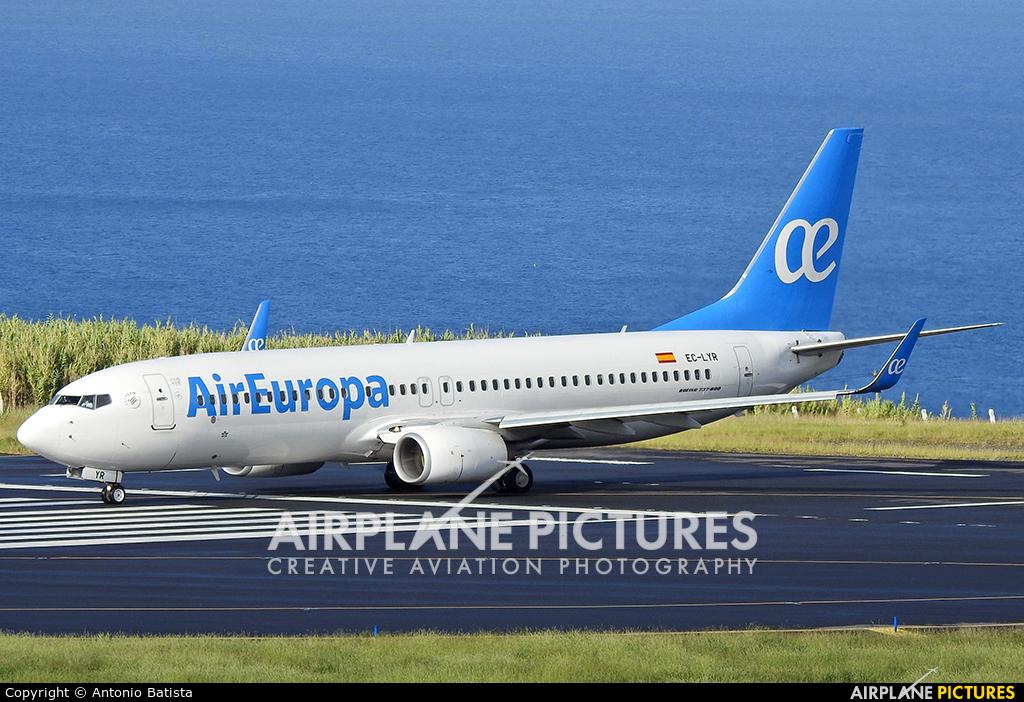 Air Europa EC-LYR aircraft at Azores - Ponta Delgada