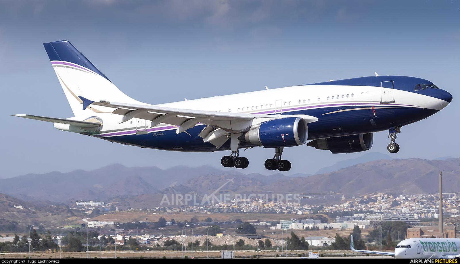 Private HZ-NSA aircraft at Málaga