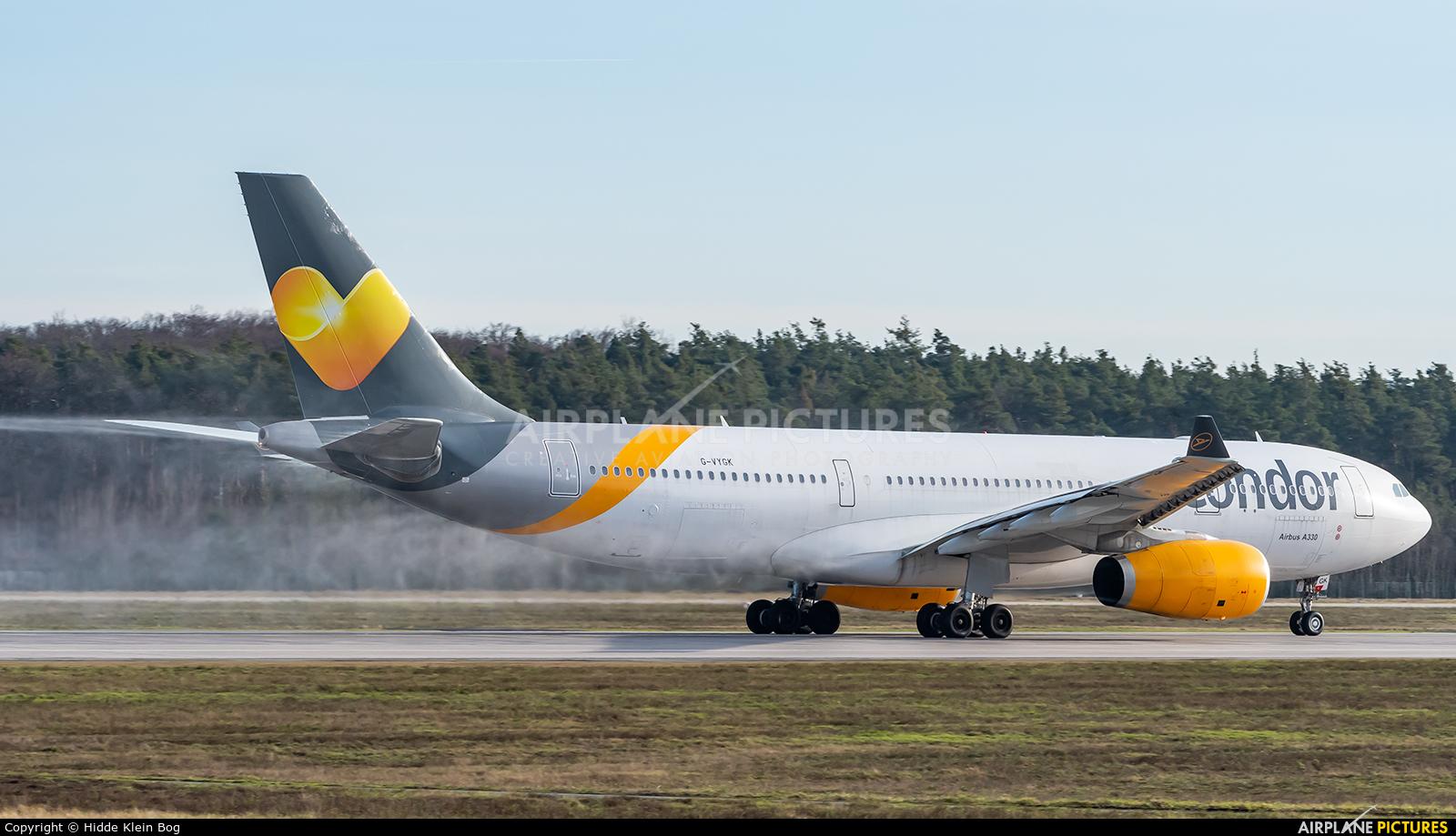Condor G-VYGK aircraft at Frankfurt