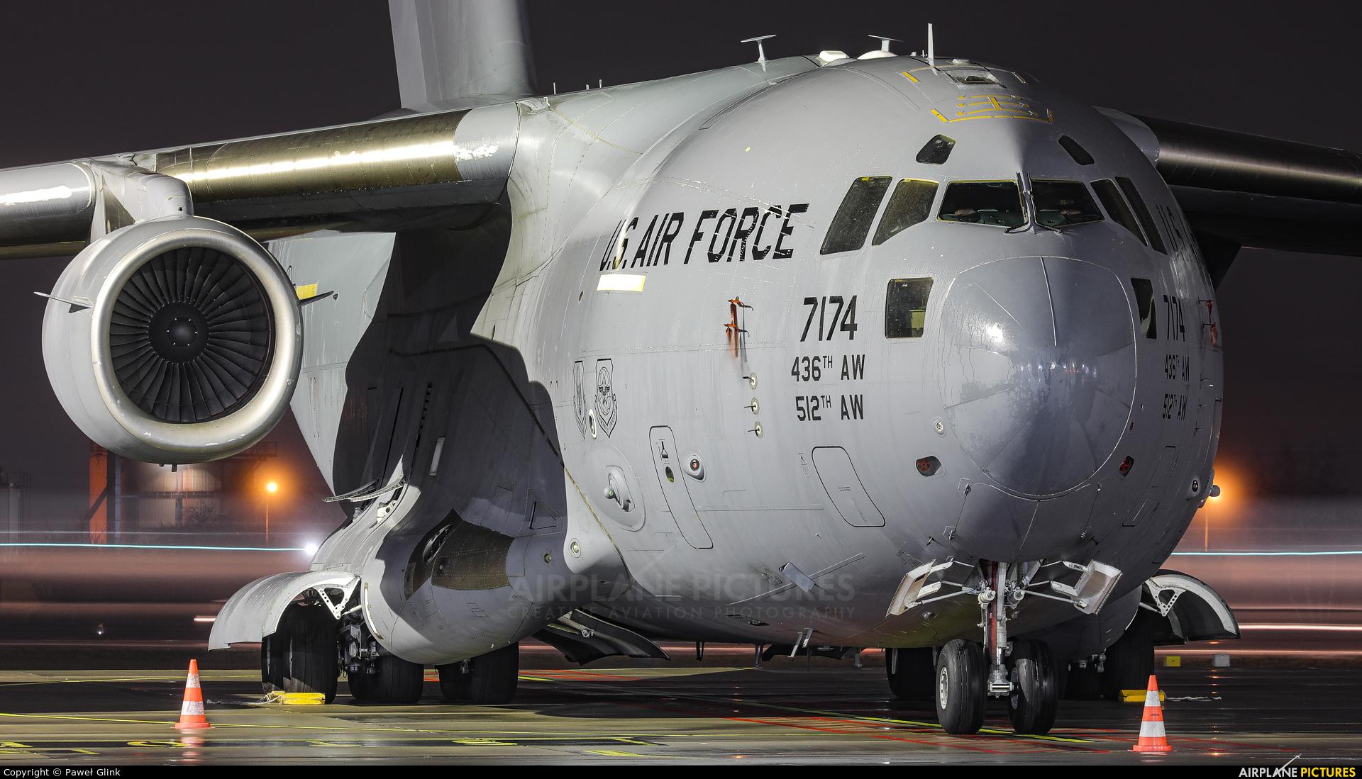 USA - Air Force 07-7174 aircraft at Gdańsk - Lech Wałęsa
