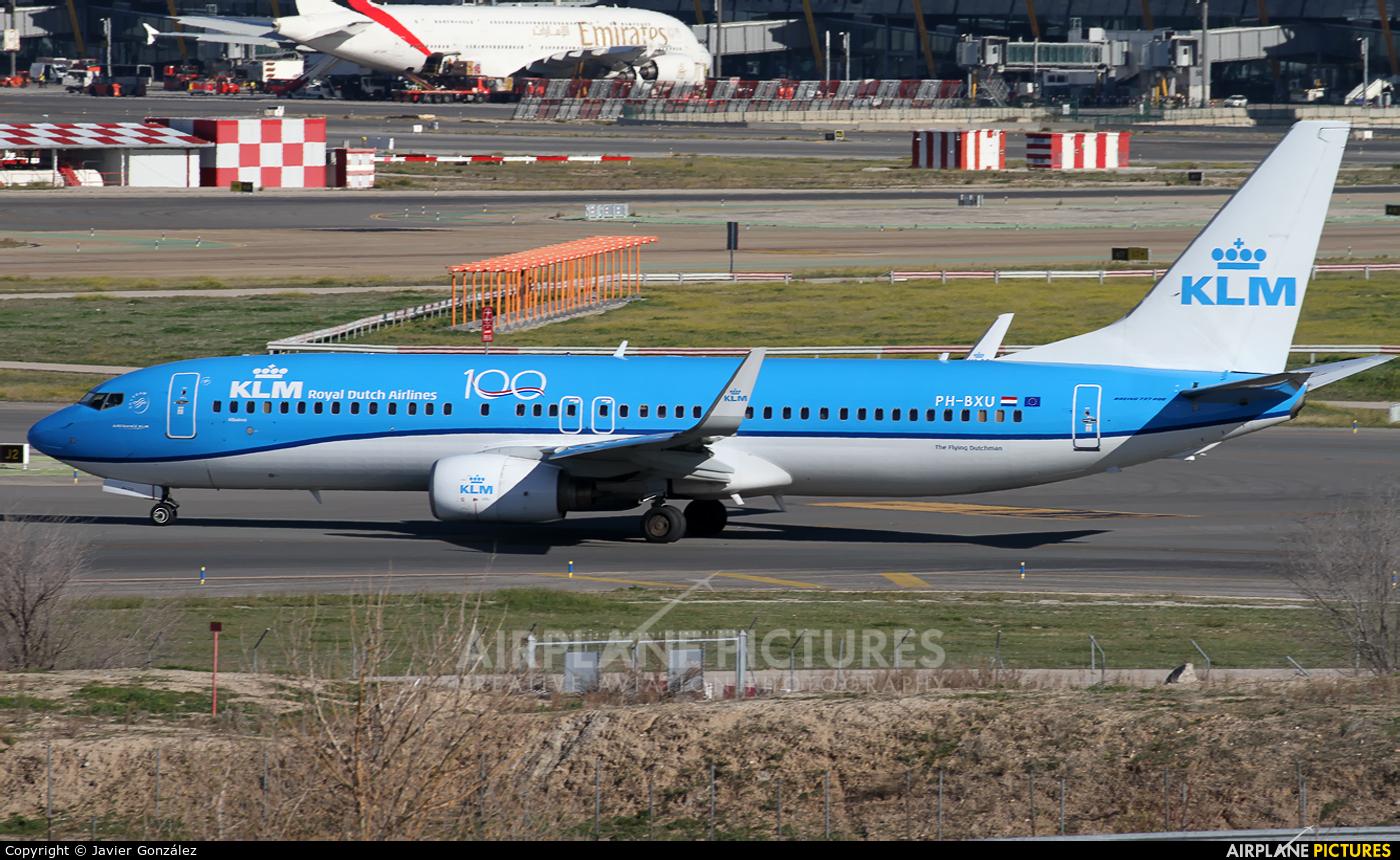 KLM PH-BXU aircraft at Madrid - Barajas
