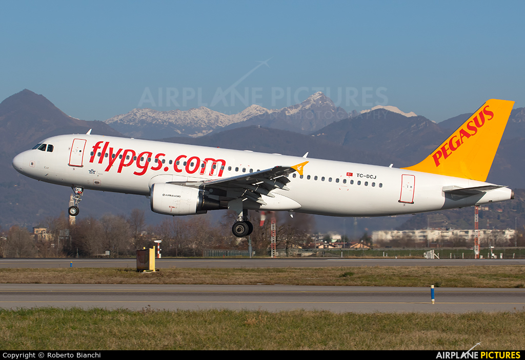 Pegasus TC-DCJ aircraft at Bergamo - Orio al Serio