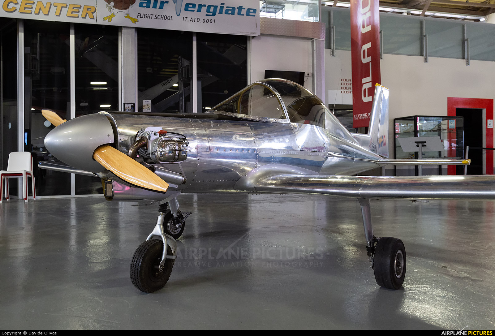 Private I-7219 aircraft at Milan -  Volandia Aviation Museum