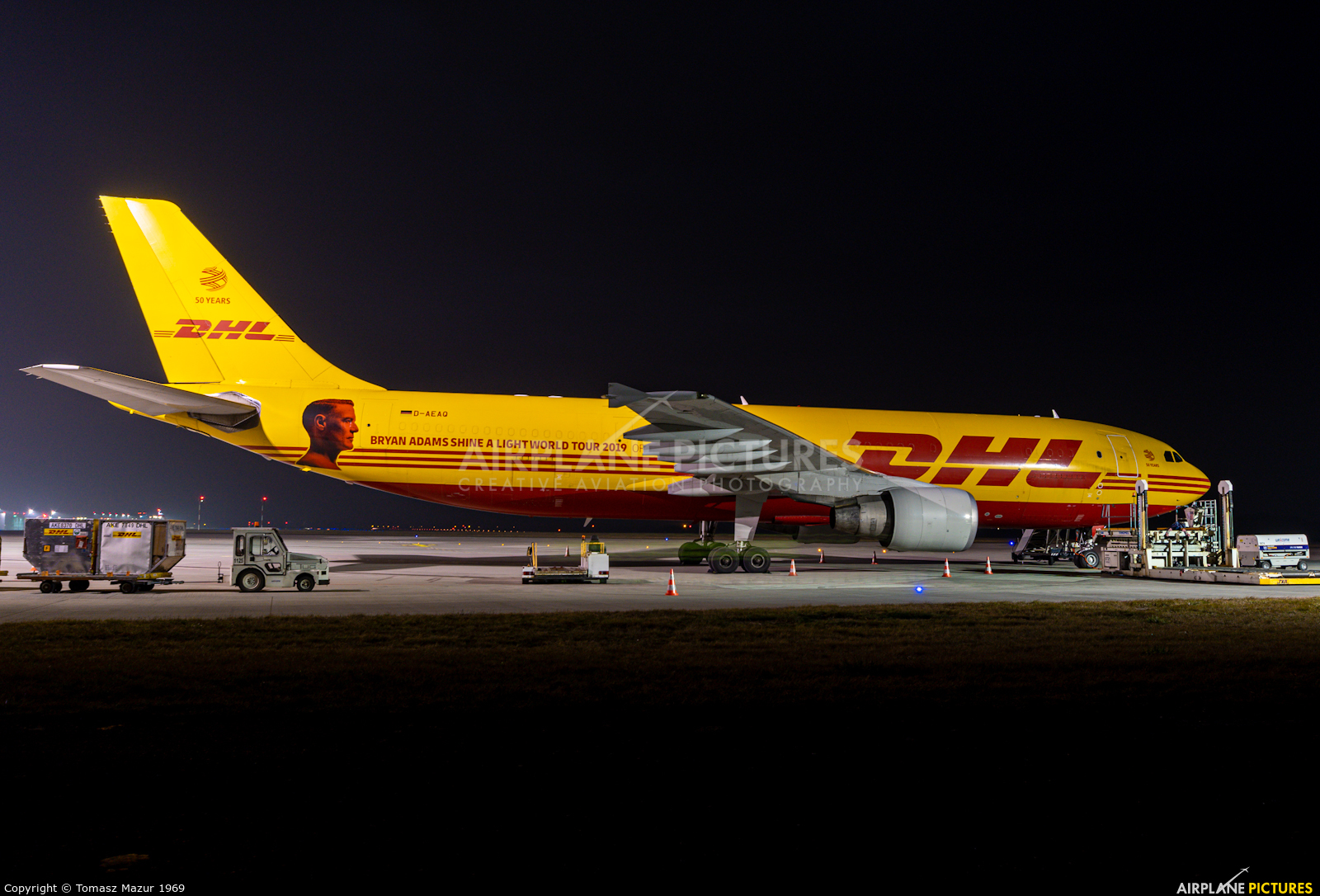 DHL Cargo D-AEAQ aircraft at Katowice - Pyrzowice