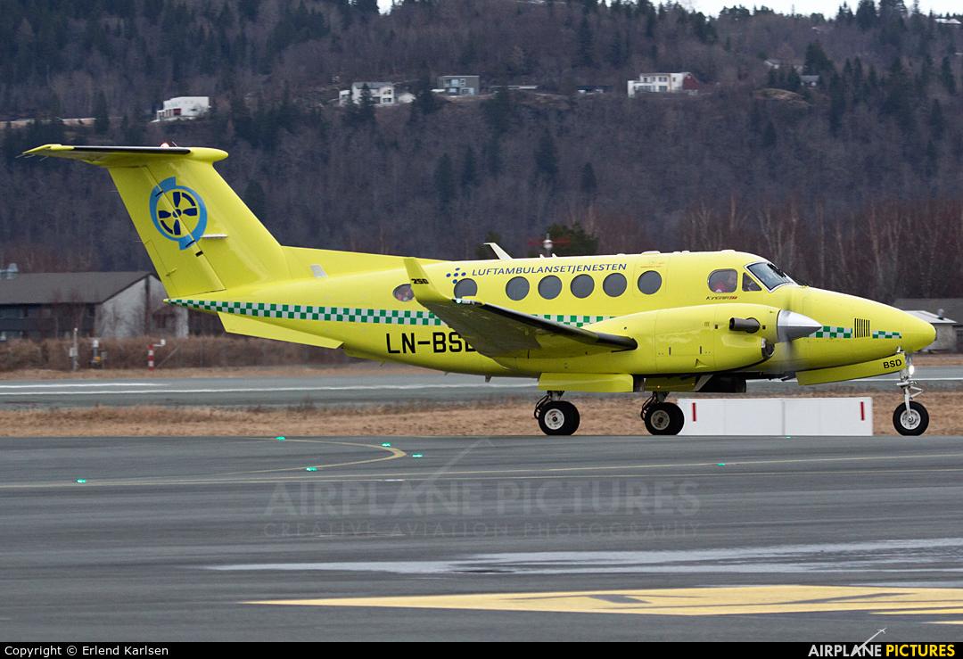 Babcock Scandinavian AirAmbulance LN-BSD aircraft at Trondheim - Vaernes