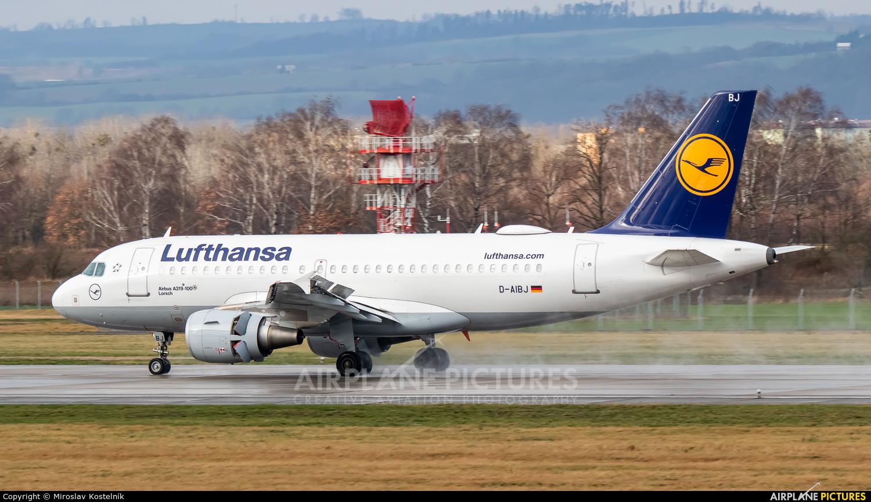 Lufthansa D-AIBJ aircraft at Ostrava Mošnov