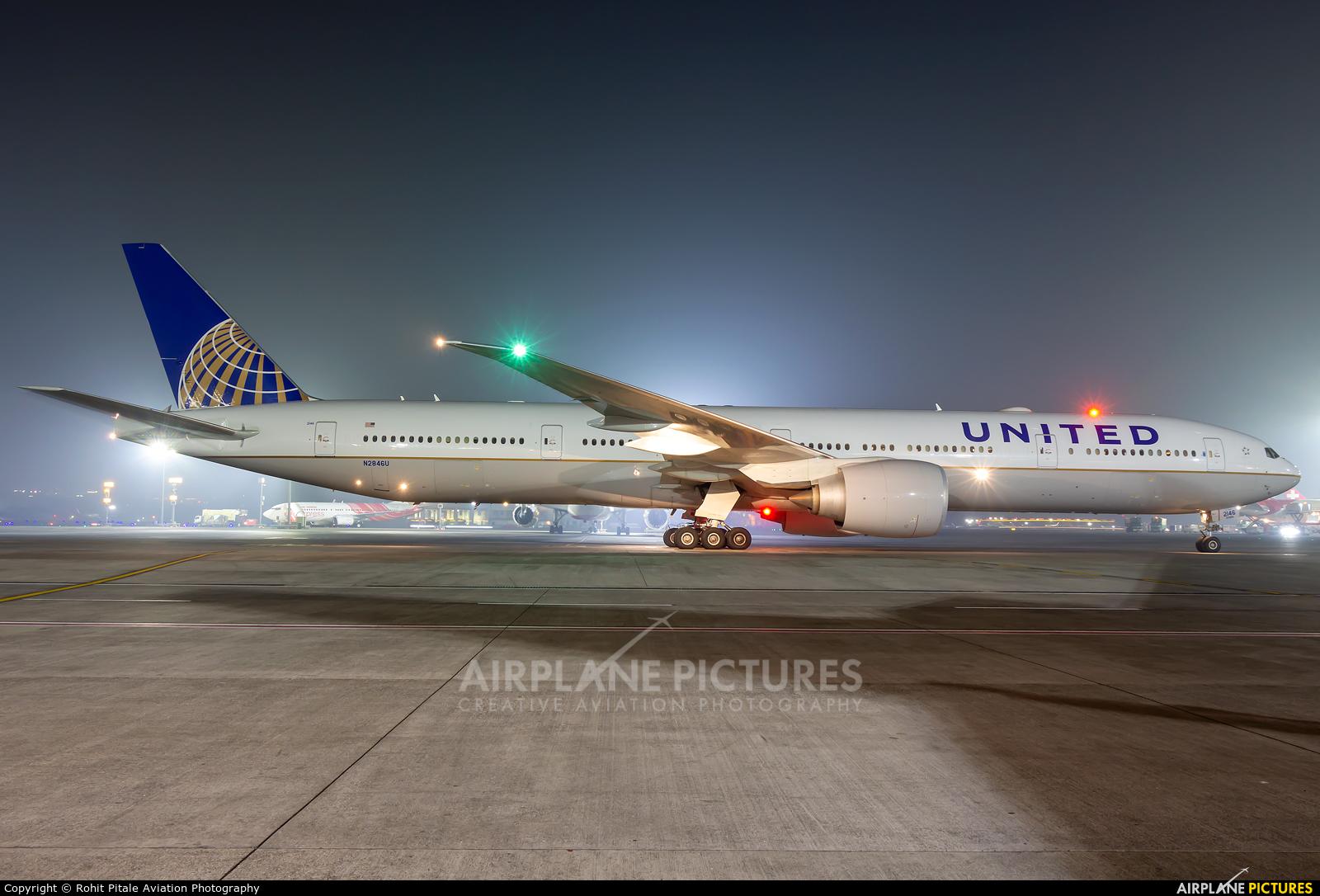 United Airlines N2846U aircraft at Mumbai - Chhatrapati Shivaji Intl