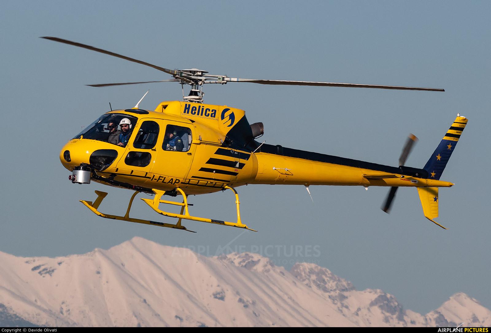 Helica I-FLAP aircraft at Verona - Villafranca