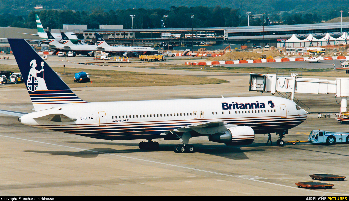 Britannia Airways G-BLKW aircraft at London - Gatwick