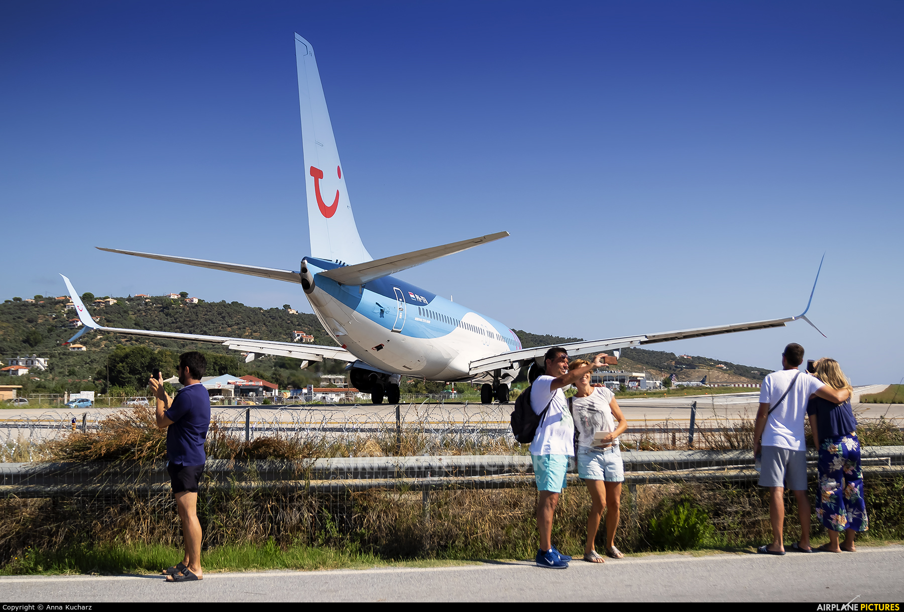 - Airport Overview JSI aircraft at Skiathos