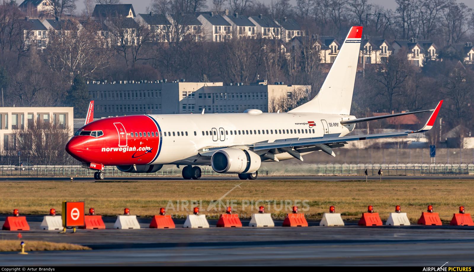 Norwegian Air Sweden SE-RPM aircraft at Kraków - John Paul II Intl