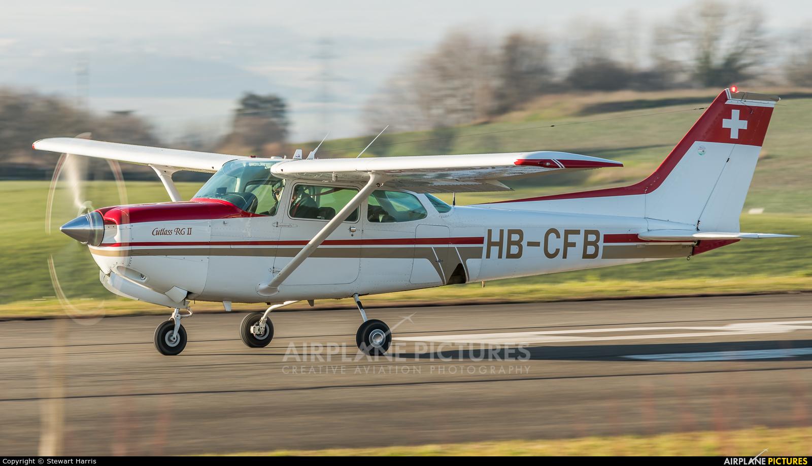 Private HB-CFB aircraft at Lausanne - La Blécherette