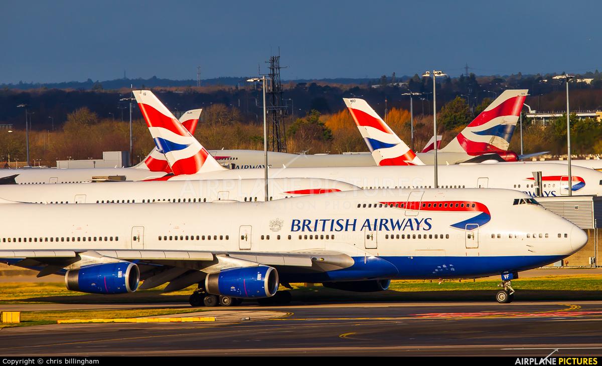 British Airways G-CIVF aircraft at London - Heathrow