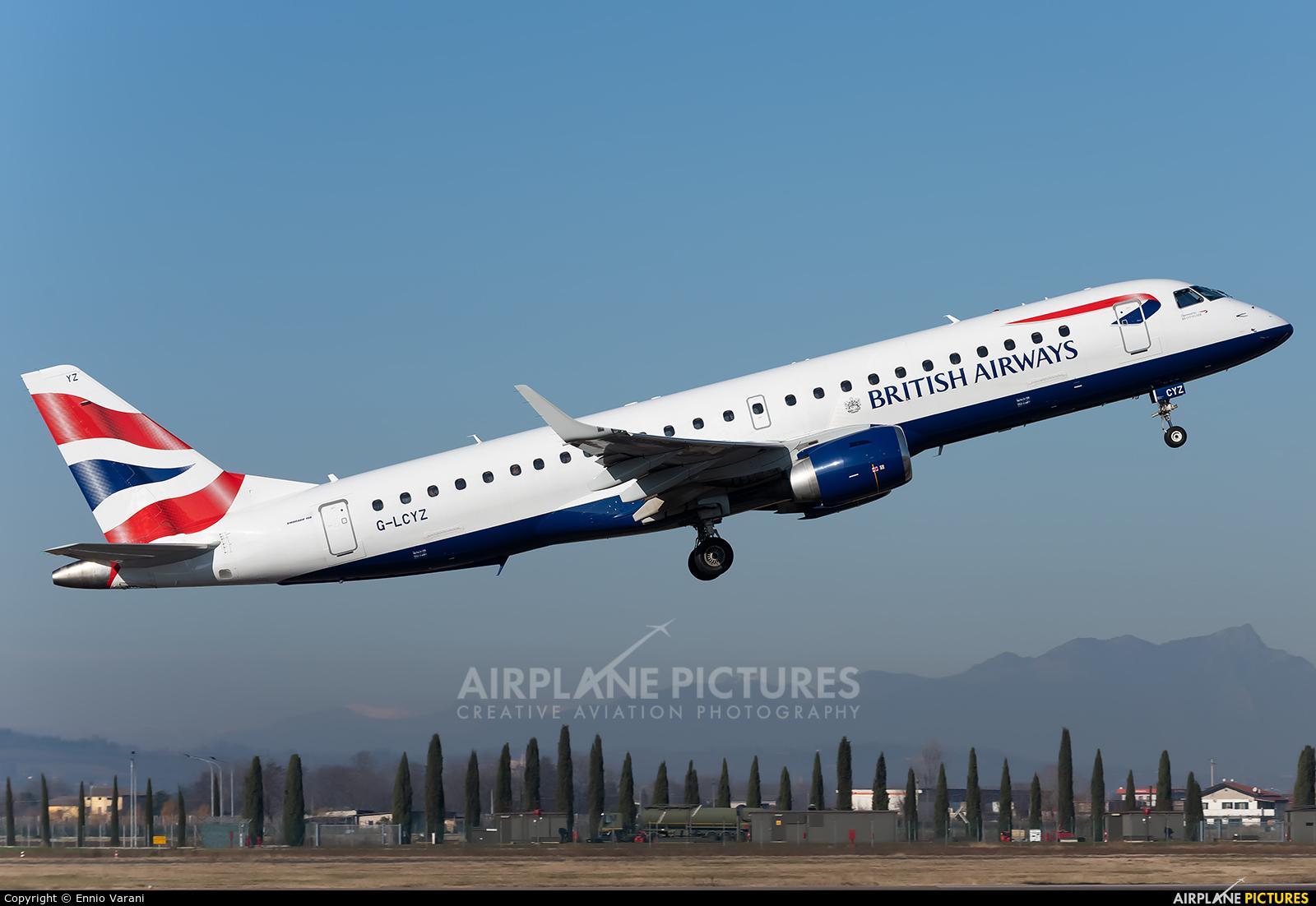 British Airways - City Flyer G-LCYZ aircraft at Verona - Villafranca