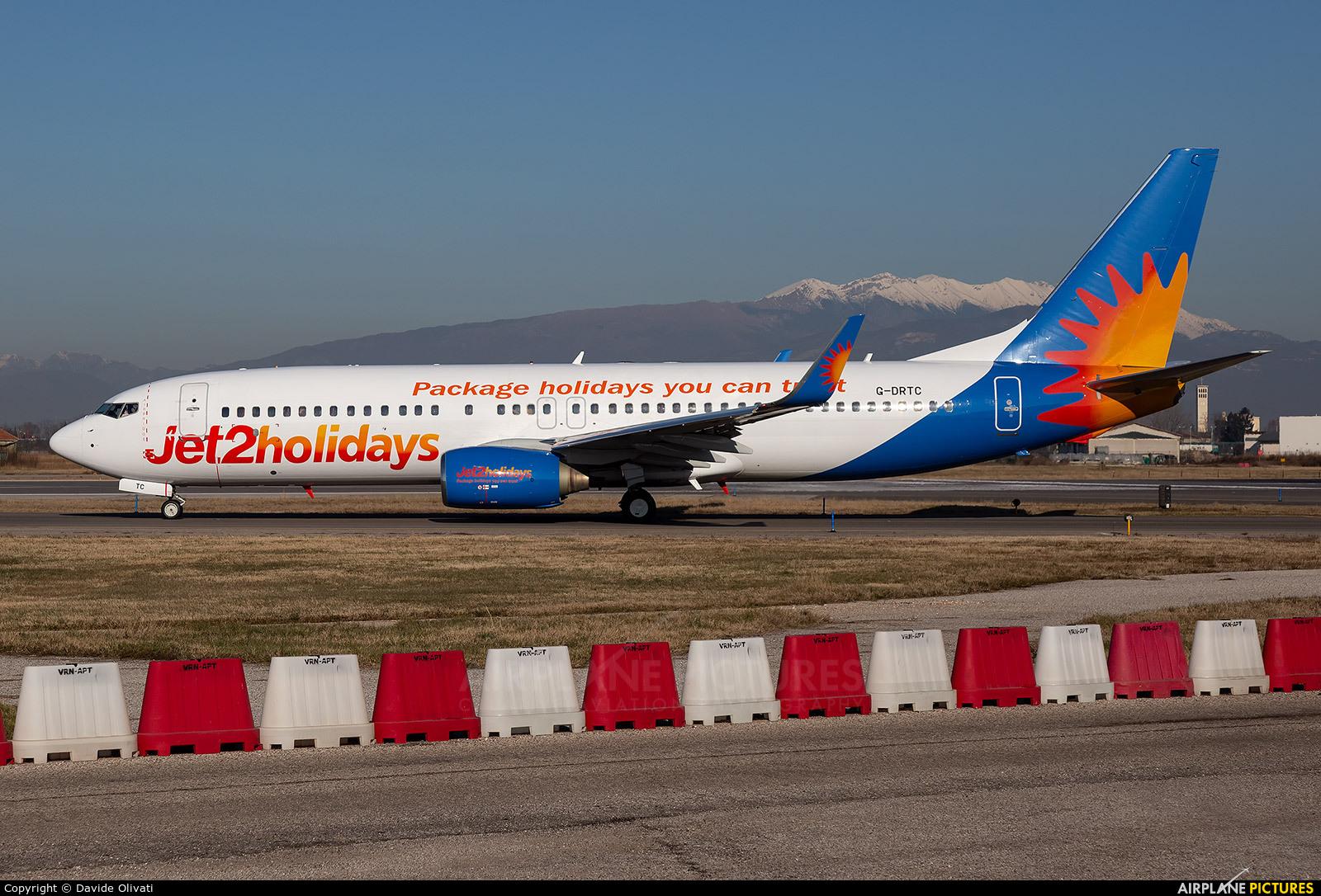 Jet2 Holidays G-DRTC aircraft at Verona - Villafranca