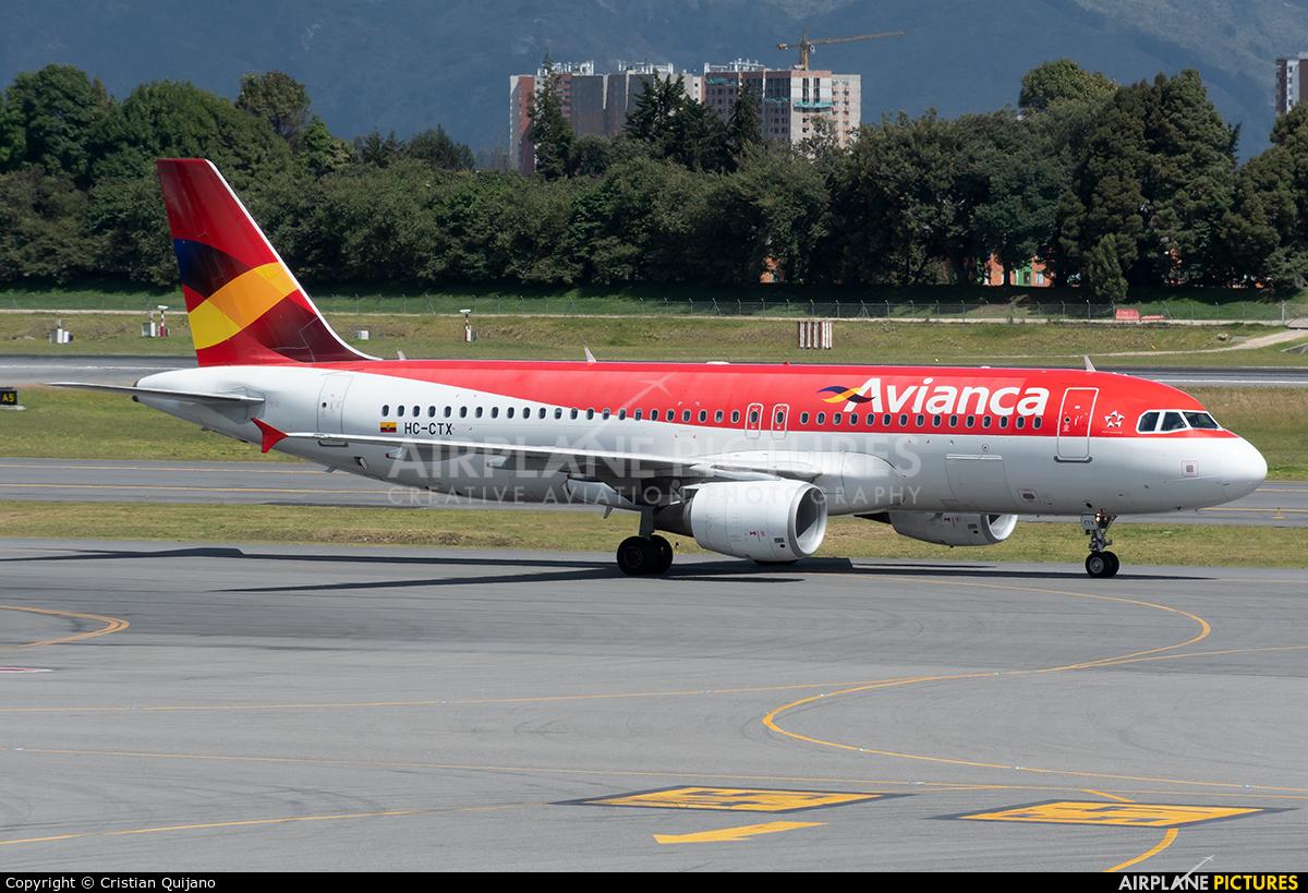 Avianca HC-CTX aircraft at Bogotá - Eldorado Intl
