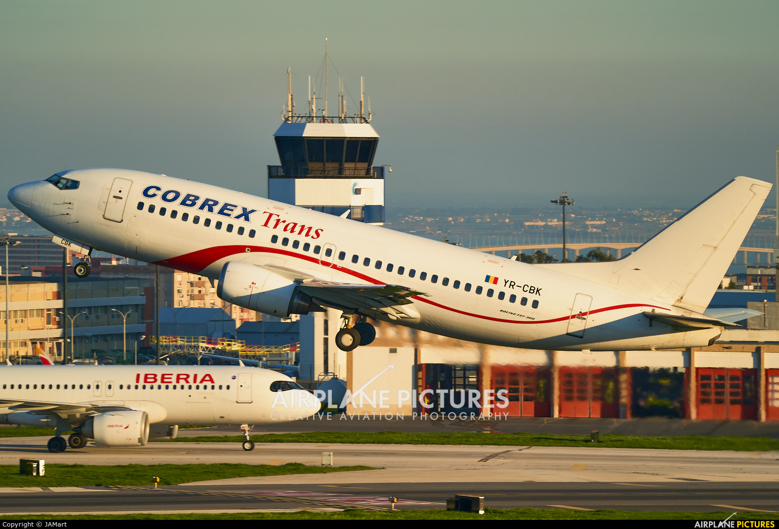 Cobrex Trans YR-CBK aircraft at Lisbon