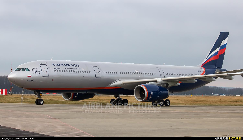 Aeroflot VQ-BMY aircraft at Ostrava Mošnov