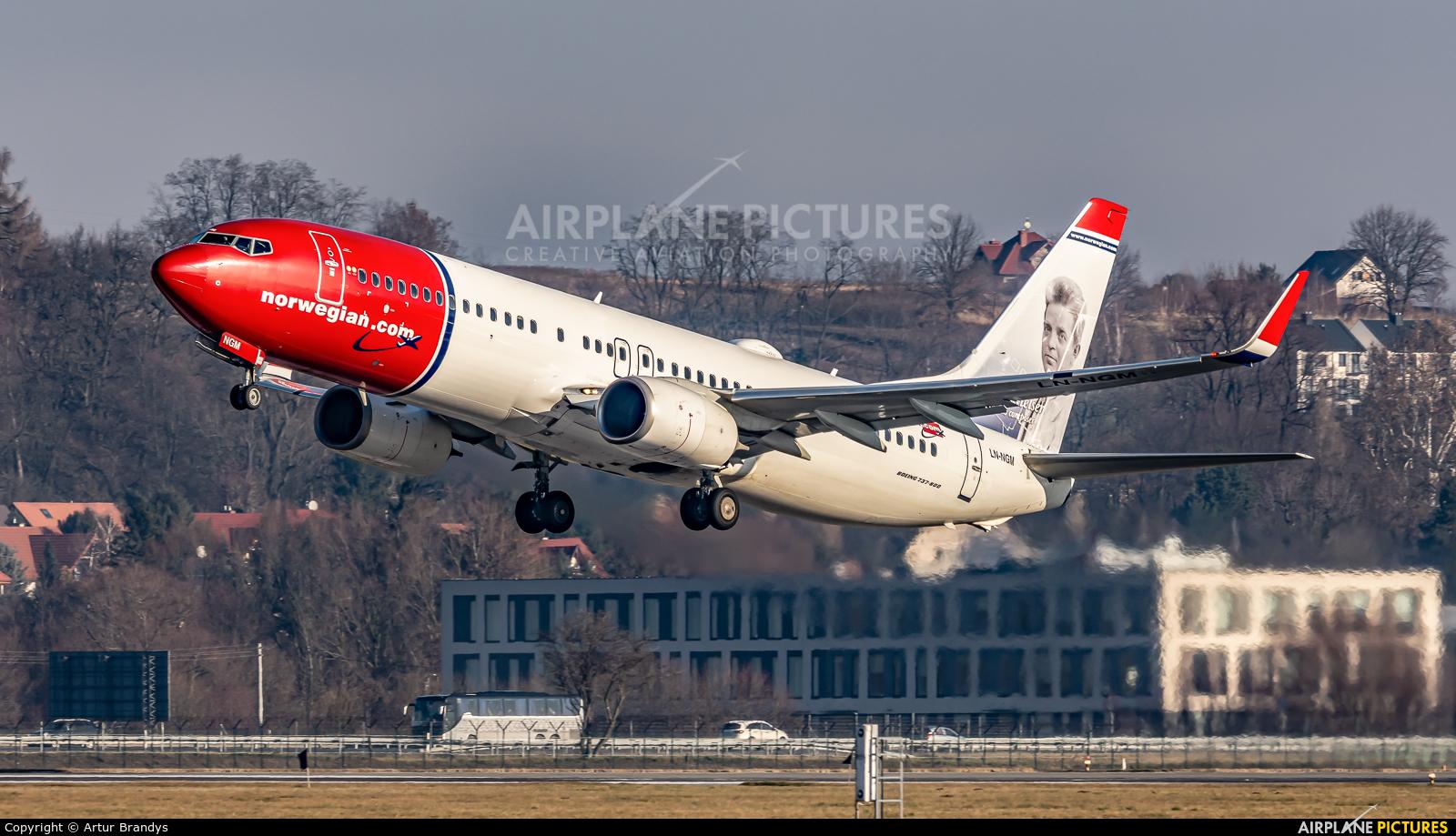 Norwegian Air Shuttle LN-NGM aircraft at Kraków - John Paul II Intl