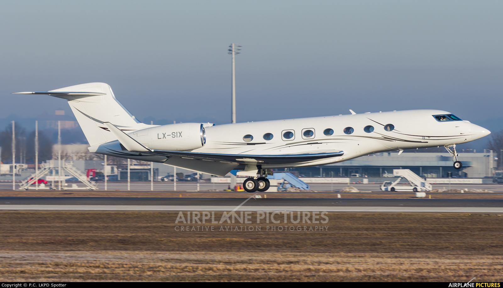 Private LX-SIX aircraft at Munich