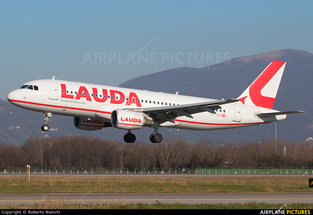 LaudaMotion OE-LMC aircraft at Bergamo - Orio al Serio