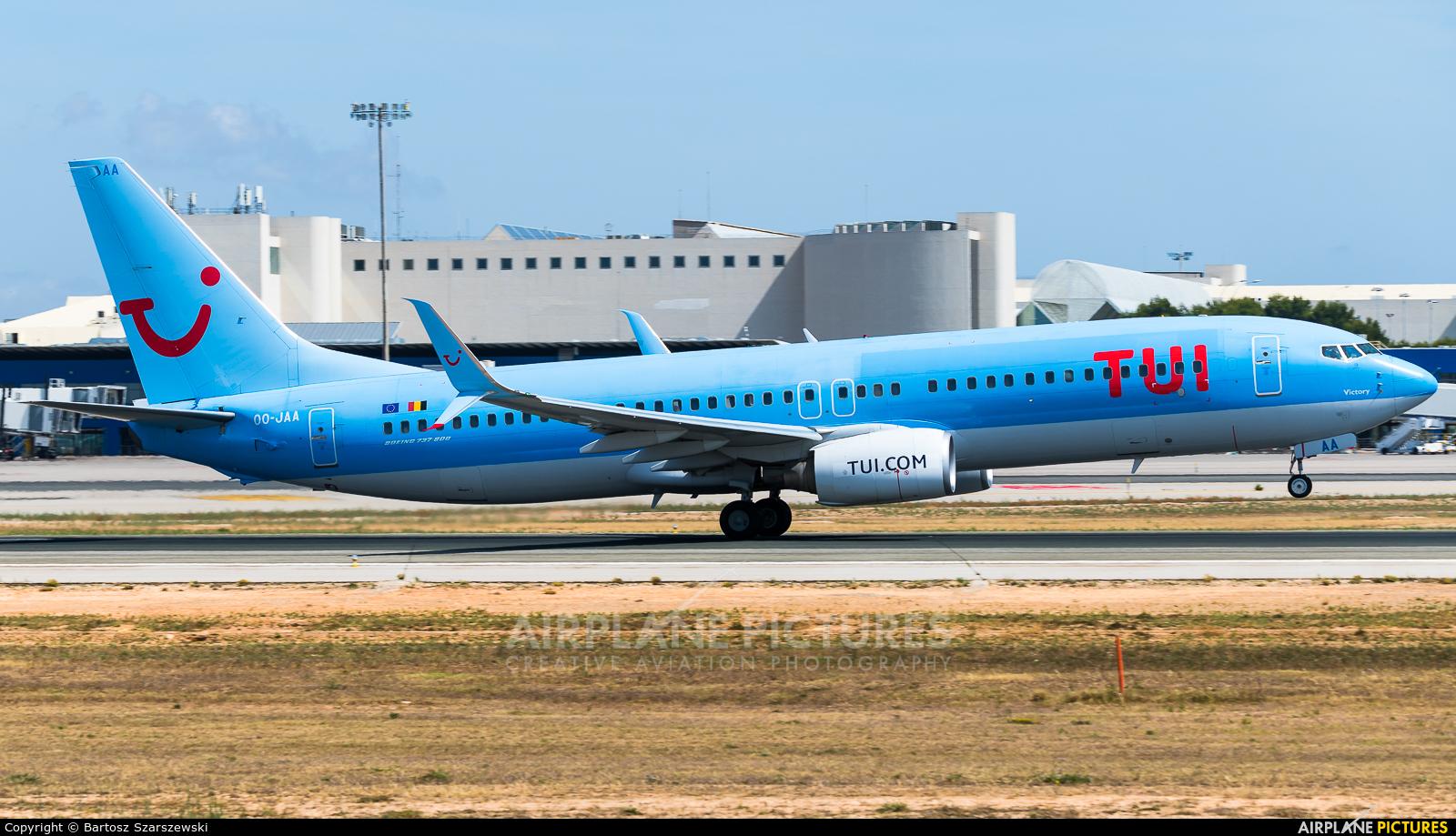 TUI Airlines Belgium OO-JAA aircraft at Palma de Mallorca